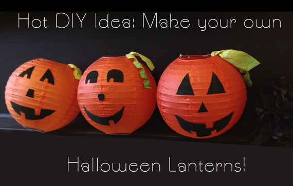 i chose to make my jack o lanterns with three variations from luna bazaars orange premium paper lanterns tangerine cayenne and mango - How To Make Halloween Lanterns